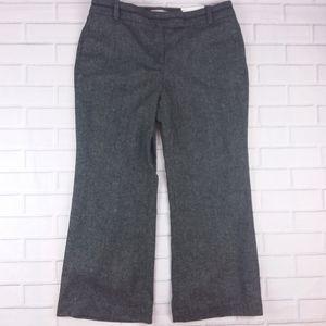 Loft Julie Curvy Trouser Flare Pants Wool Blend